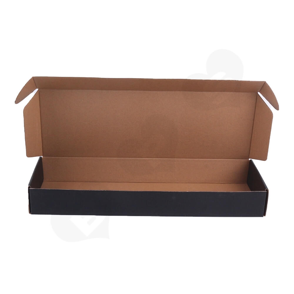 Black Color Printed Shipping Box For Hair Extension Side View Two
