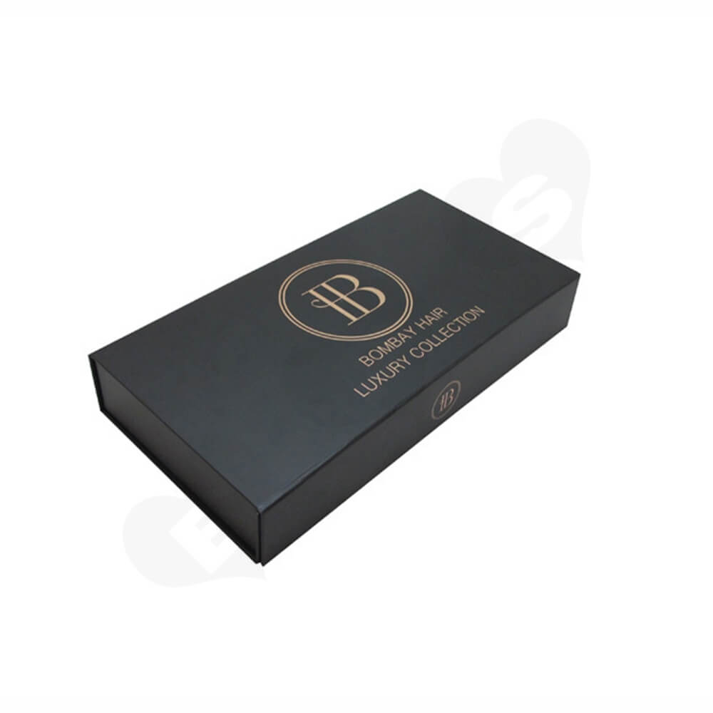 Custom Collapsible Magnetic Box With Foil Stamping Side View Five