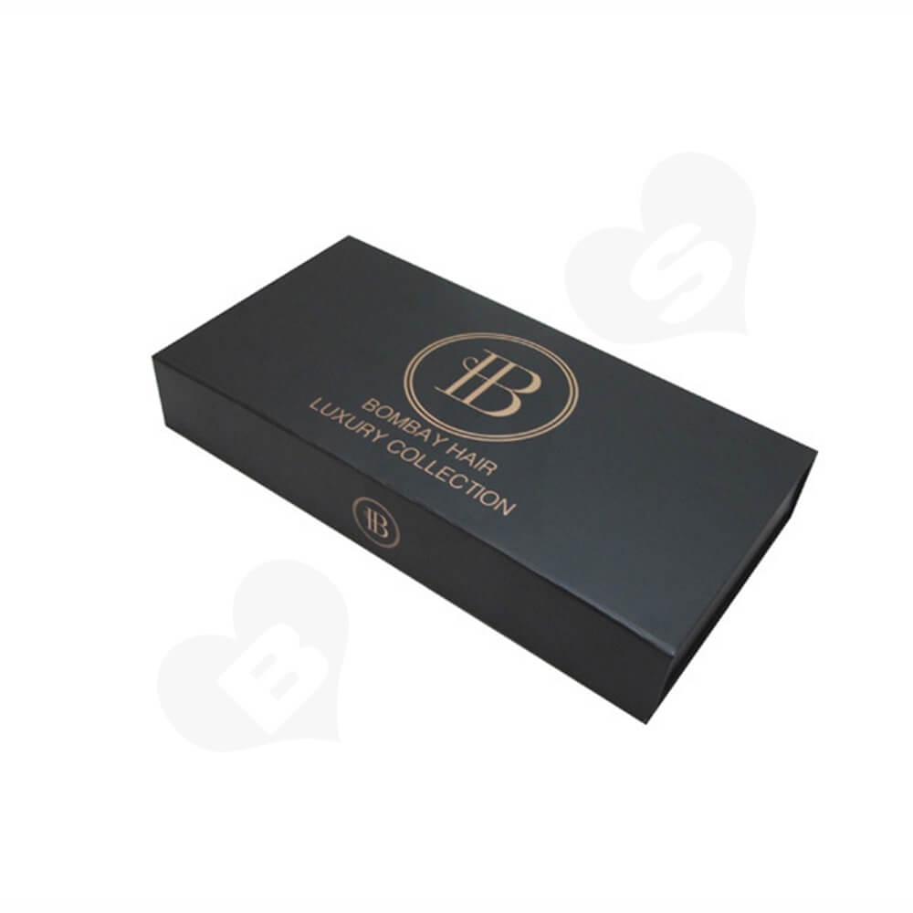 Custom Collapsible Magnetic Box With Foil Stamping Side View One