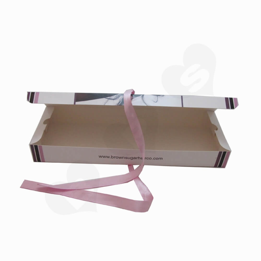 Custom Folding Box For Hair Extension Side View Three