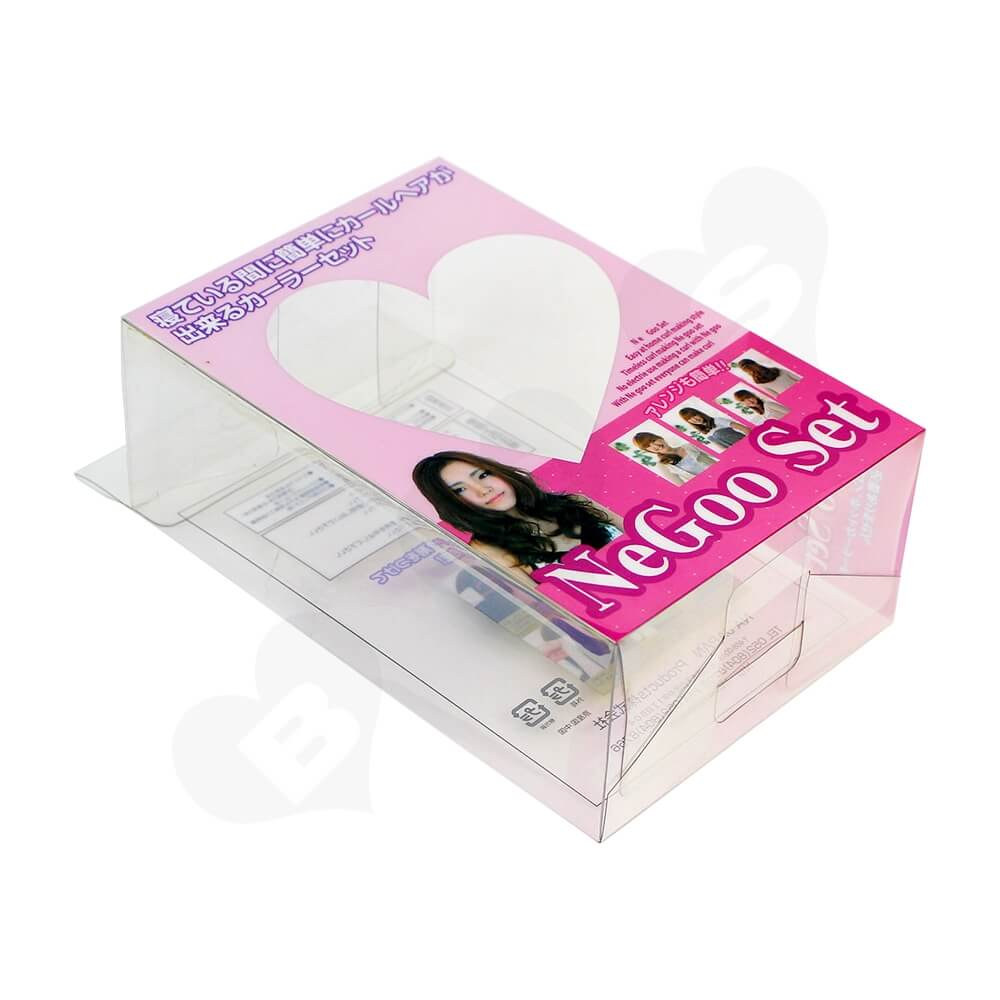 Custom UV Printed Plastic Box For Hair Extension Side View One