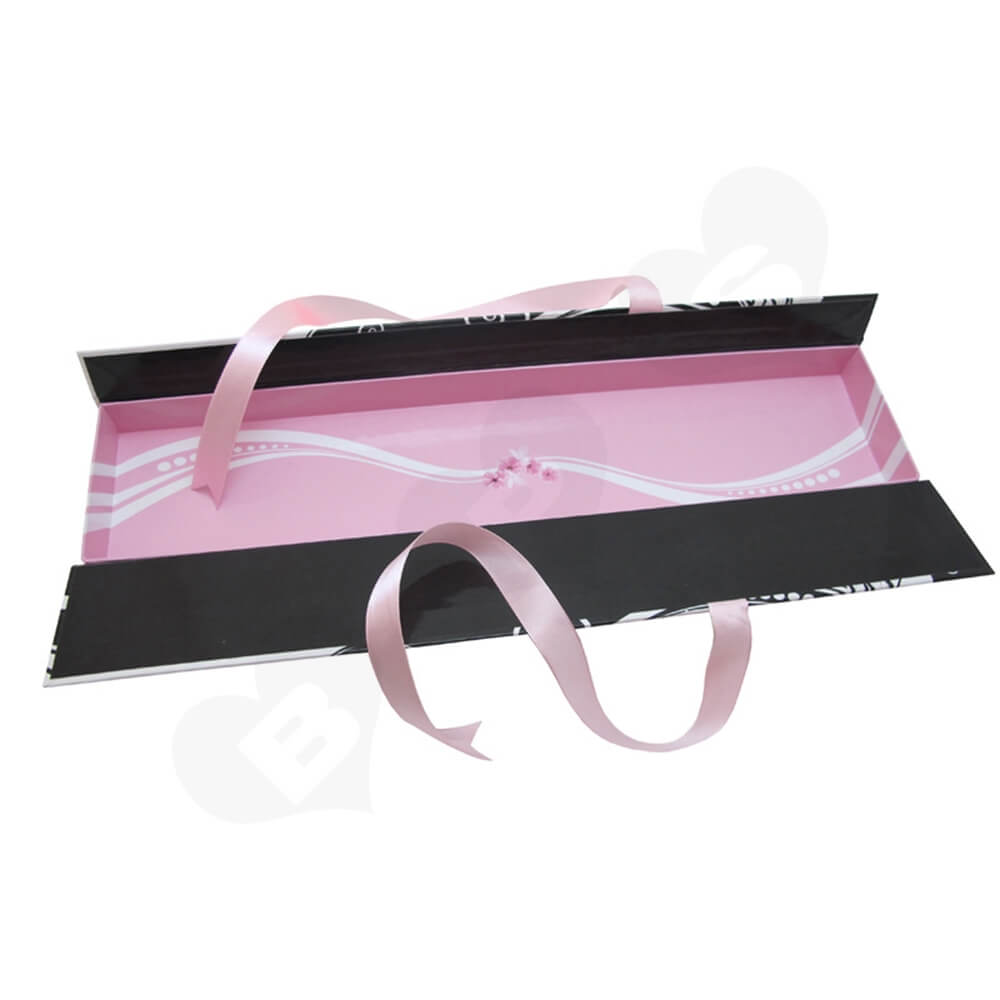 Double Sided Open Gift Box For Hair Extension Side View Three