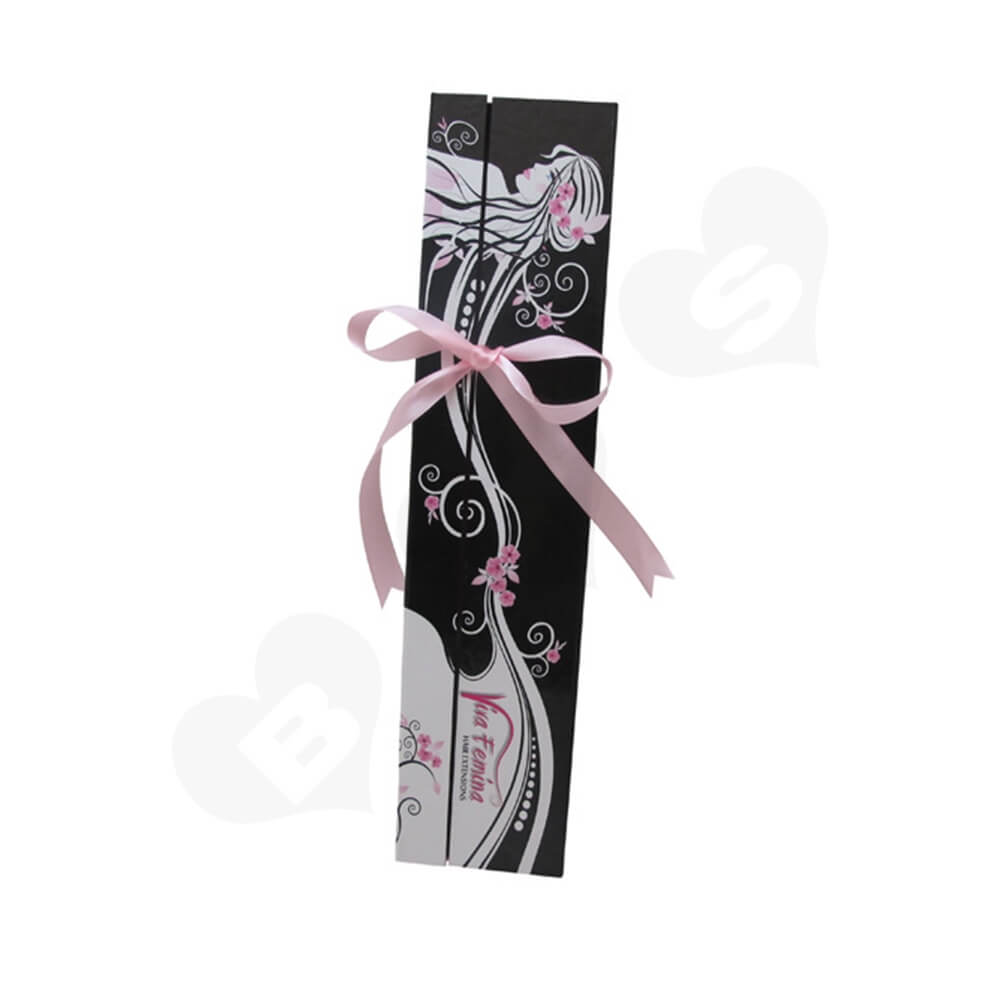 Double Sided Open Gift Box For Hair Extension Side View Two