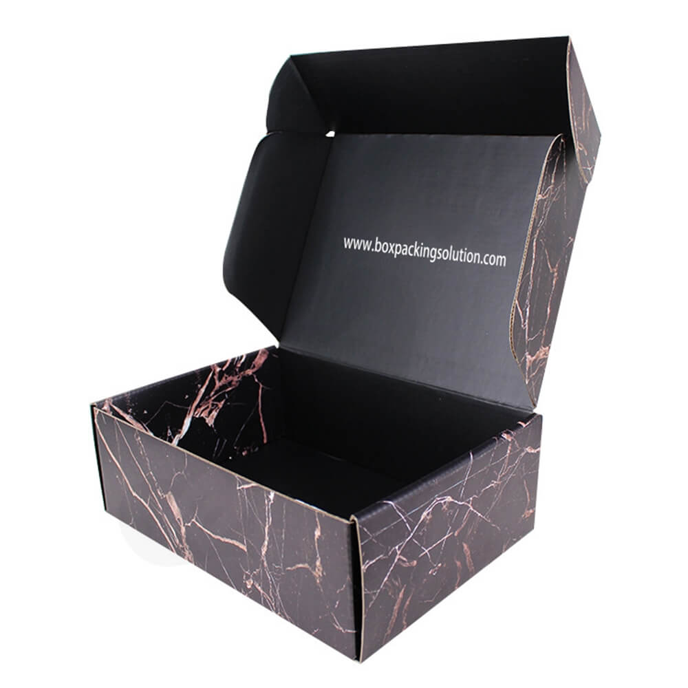Double Sided Printing Matte Coating Shipping Mailer Box For Wig Side View Three