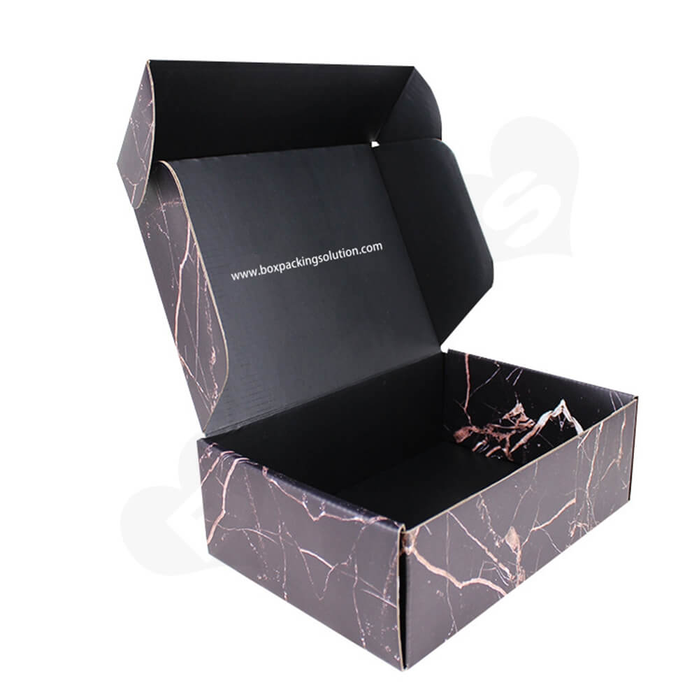Double Sided Printing Matte Coating Shipping Mailer Box For Wig Side View Two