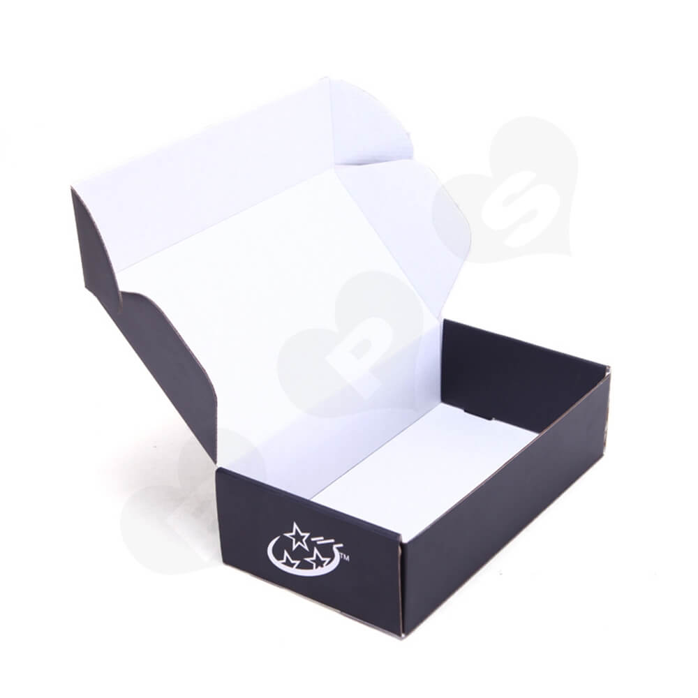 Gloss Coating Corrugated Mailer Box For Hair Extension Side View Five