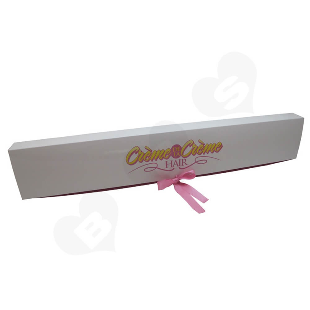 High Quality Folding Carton Box For Hair Extension Side View Five