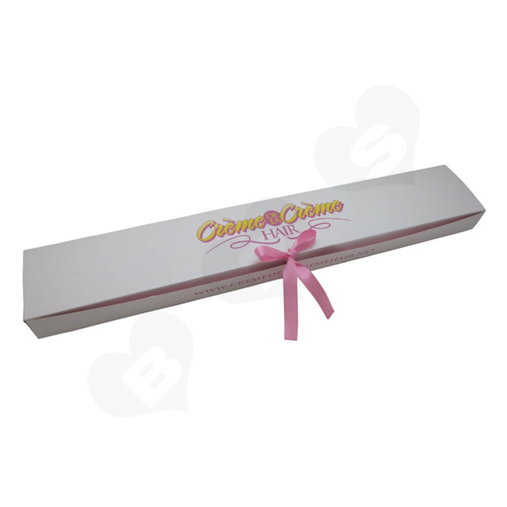 High Quality Folding Carton Box For Hair Extension Side View Four