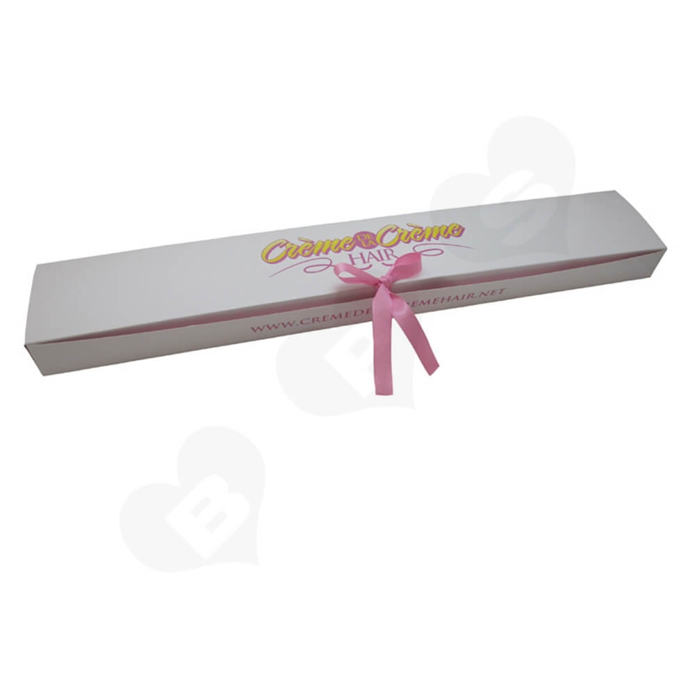 High Quality Folding Carton Box For Hair Extension Side View One