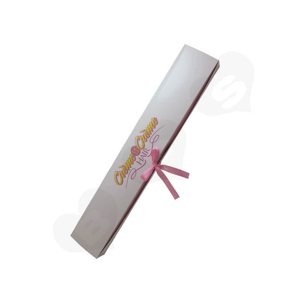 High Quality Folding Carton Box For Hair Extension Side View Three