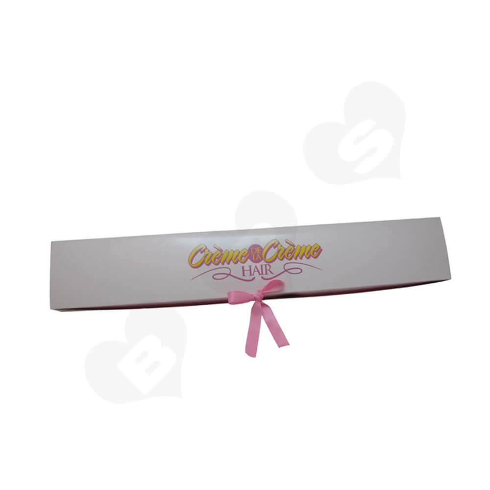 High Quality Folding Carton Box For Hair Extension Side View Two