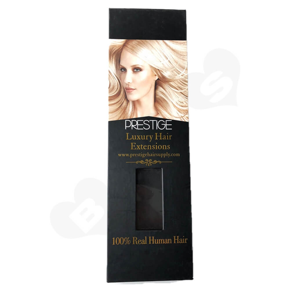 Matte Black Lamination Magnetic Gift Box For Hair Extension Side View One