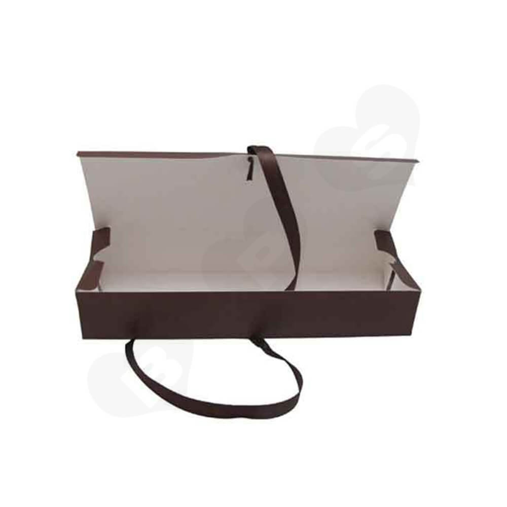 Matte Coating Coffee Color Wig Box Side View Four