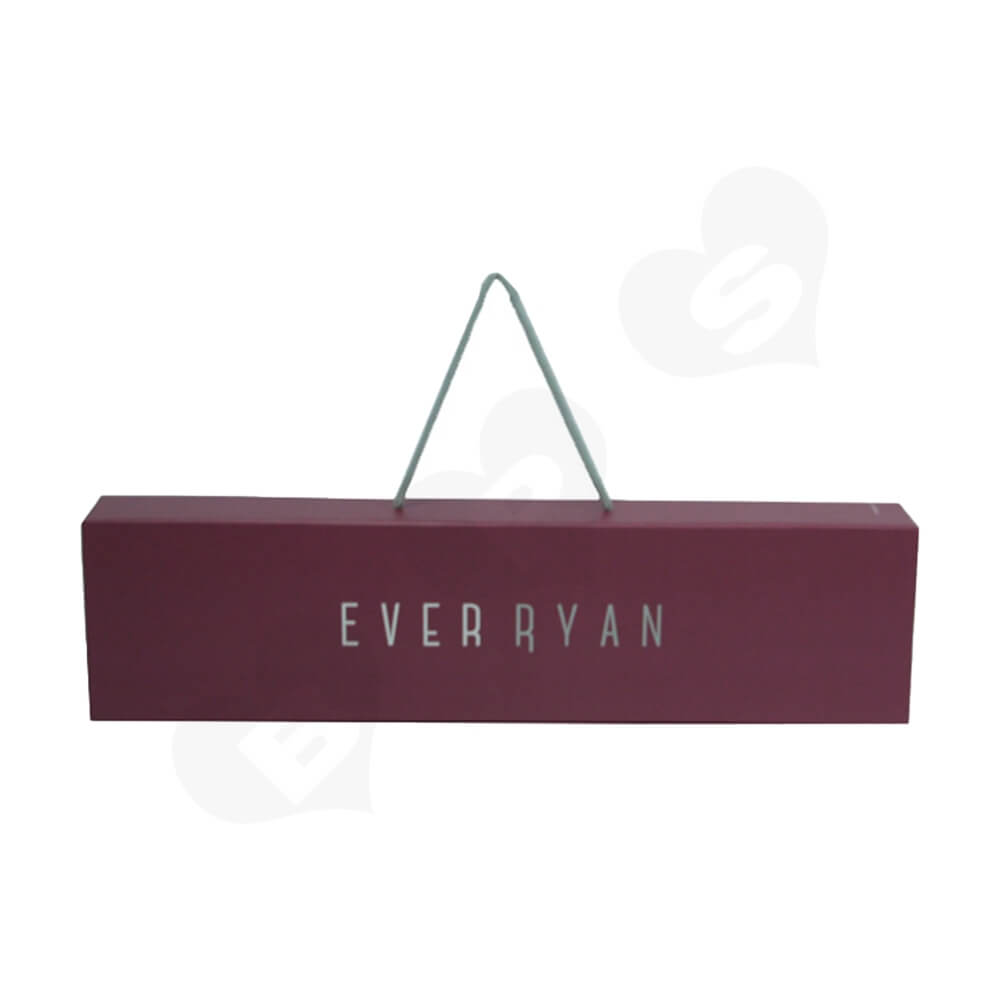 Personalized Cardboard Drawer Box With Handle For Wigs Side View One