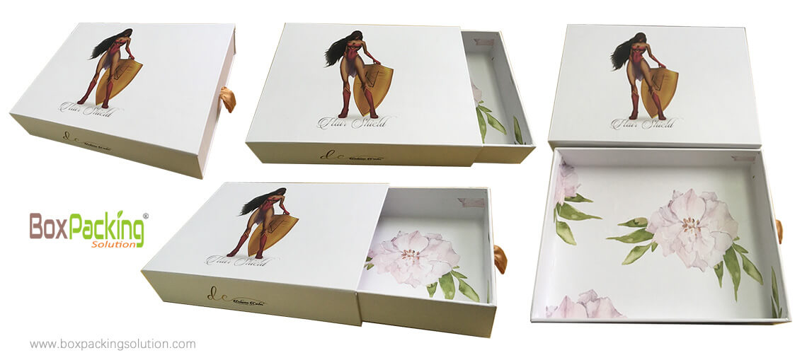 Custom Branded Hair Extension Box Made From Sustainable Cardboard Material