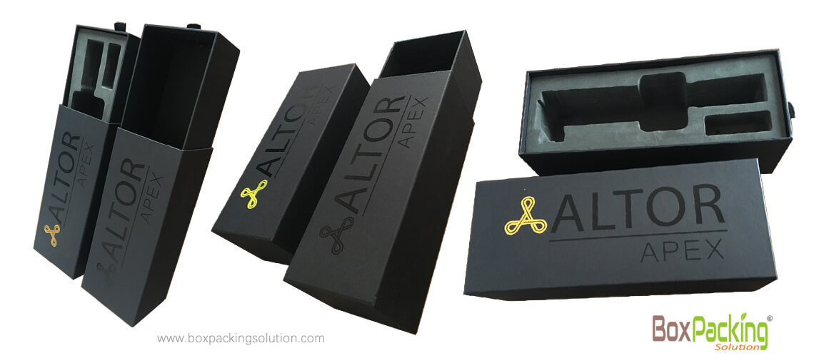 Recycled Tools Packaging Box With Eva Foam Insert Customized Printing