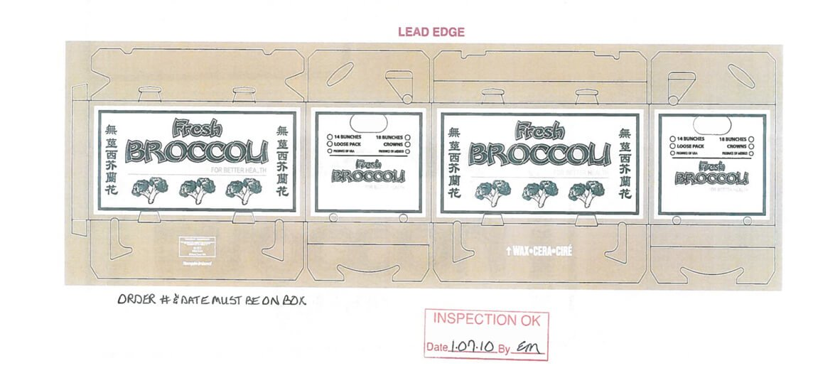 Broccoli box design work