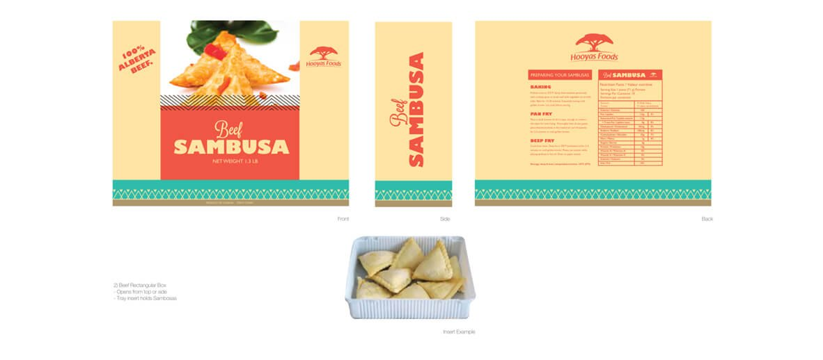 Cold sambusa packaging design