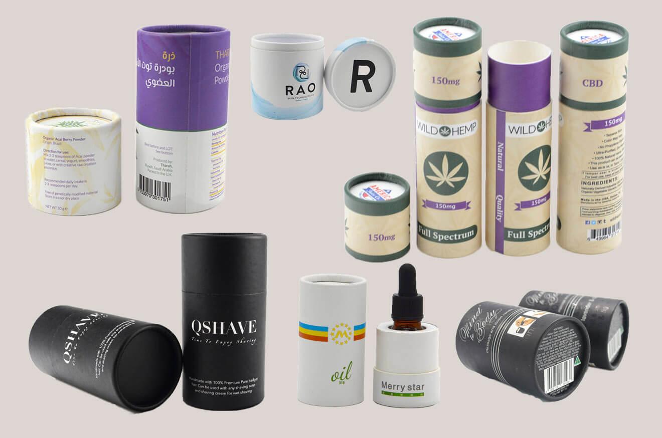 Cosmetic Cardboard Tubes Cylinders