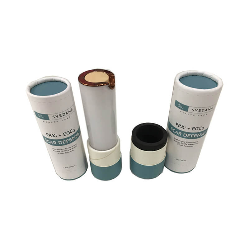 Cosmetic device packaging tube box