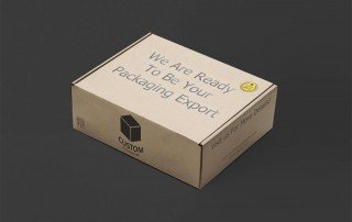 Custom Corrugated Box Mockup