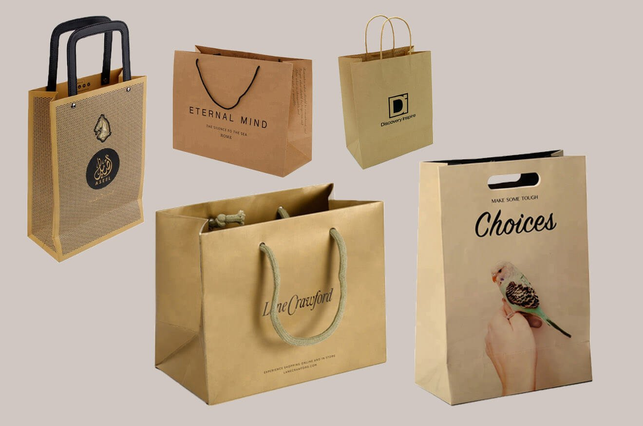 Custom Kraft Paper Shopping Bags