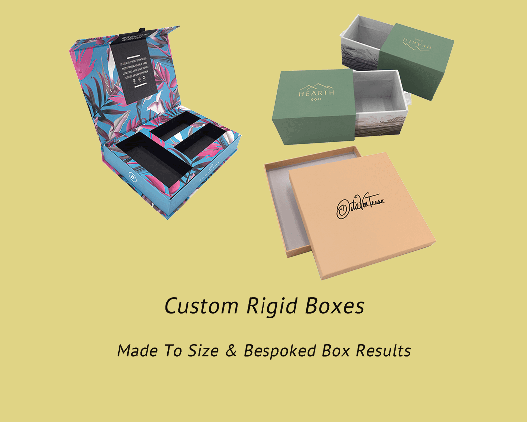 We offer all kinds of rigid gift boxes with high quality, magnetic boxes, drawer boxes, lift-off lid boxes and so on.
