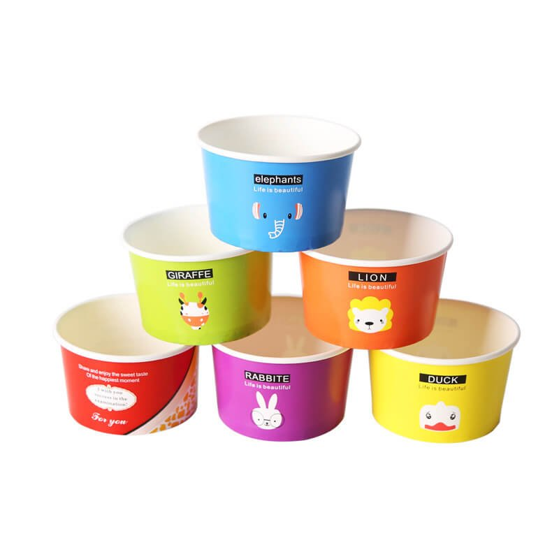 Frozen yogurt bar packaging bowl