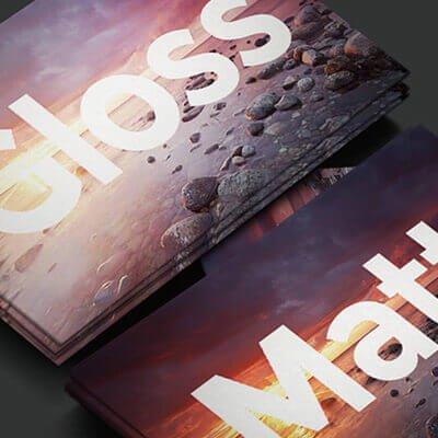 Glossy and Matt Lamination on Custom Rigid Boxes