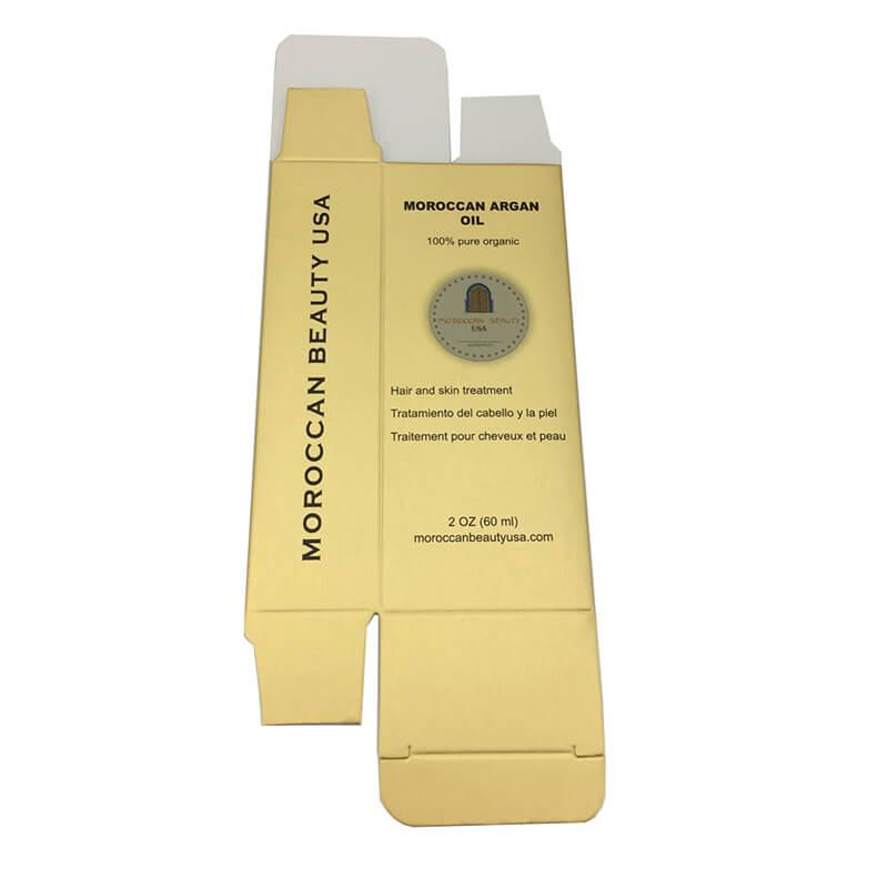 Golden Metallic Cosmetic Packaging Box