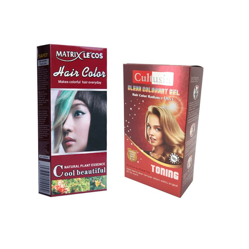 Hair color packaging box