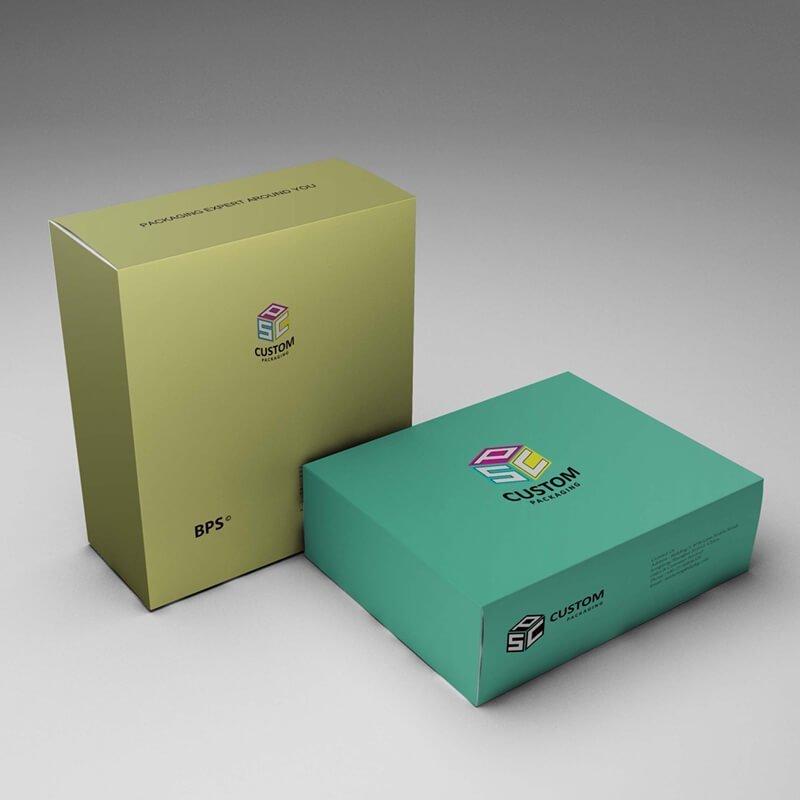 High quality Custom Tuck end paper box mockup design