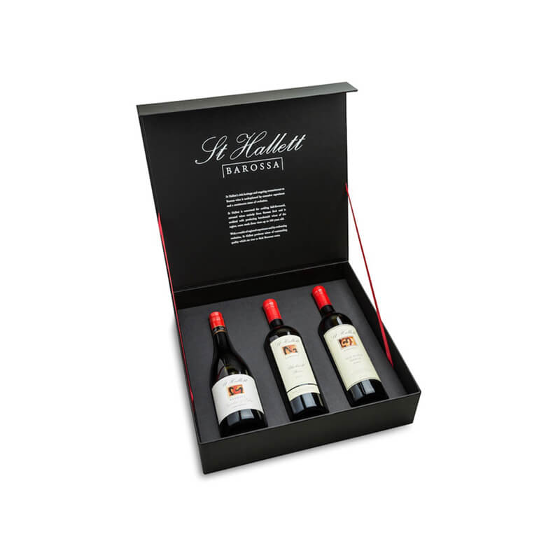 Hinged lid wine packing box