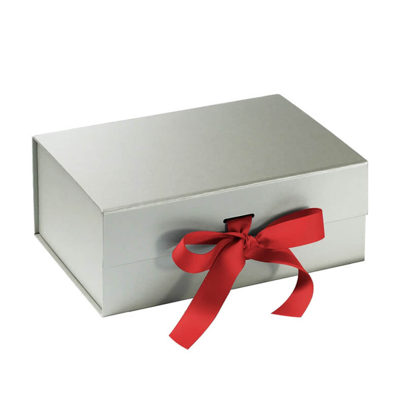 Luxury silver foil gift box for cosmetic kits