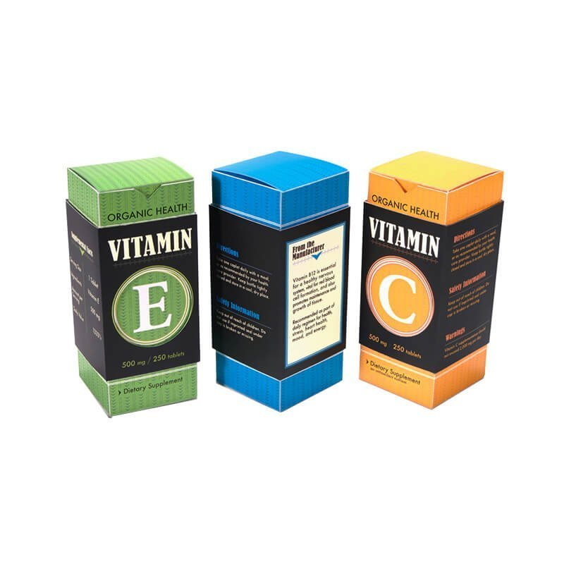 Newly designed vitamin packaging boxes