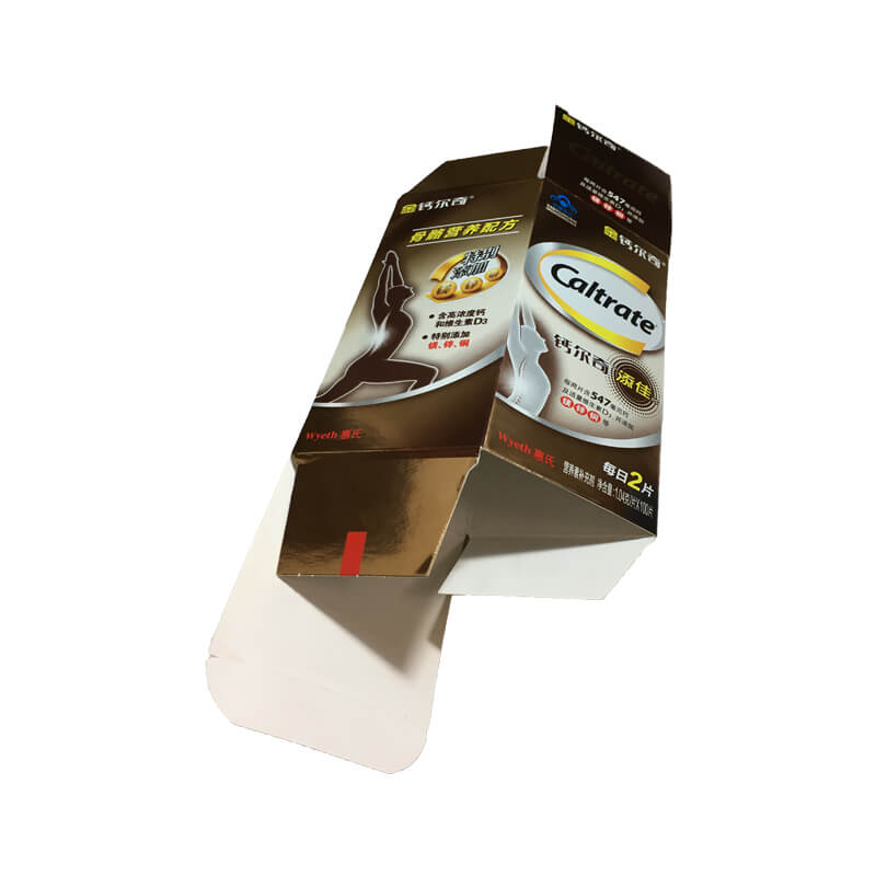 Nutrition Medical Bottle Paper Box with Matt Finish