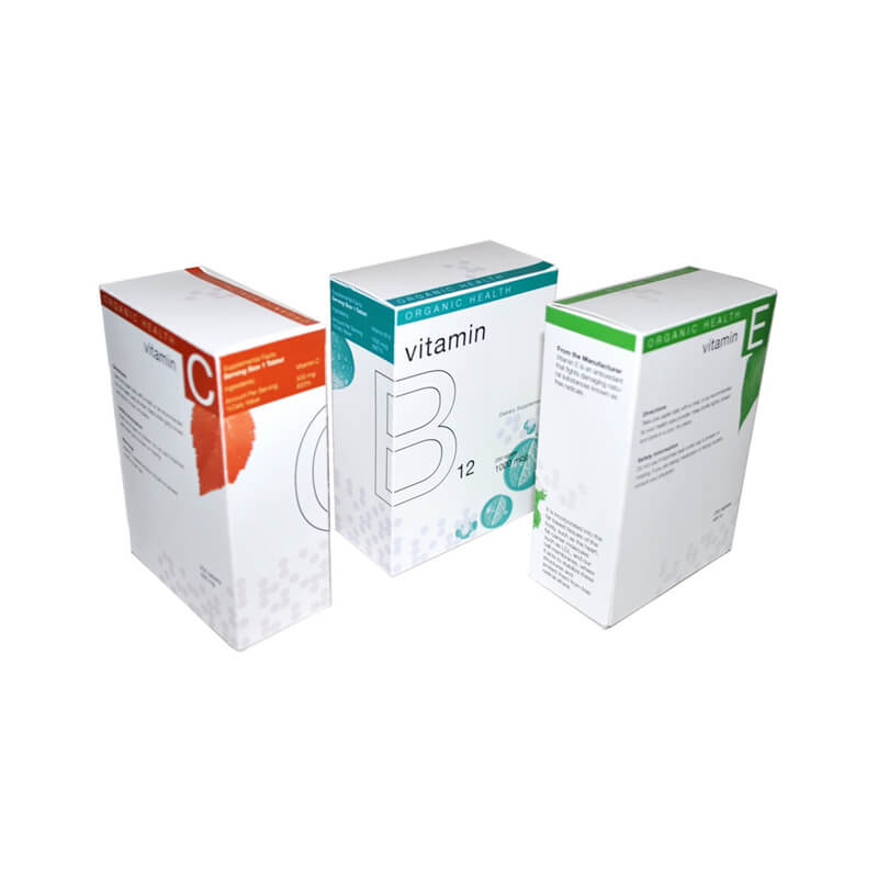 Paper box for vitamin supplement