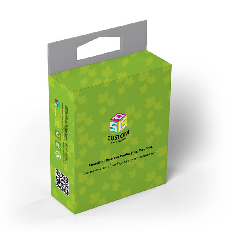 Paperboard material retail box mock-up design