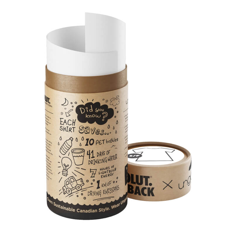 Printed Tube Packaging For T-Shirt