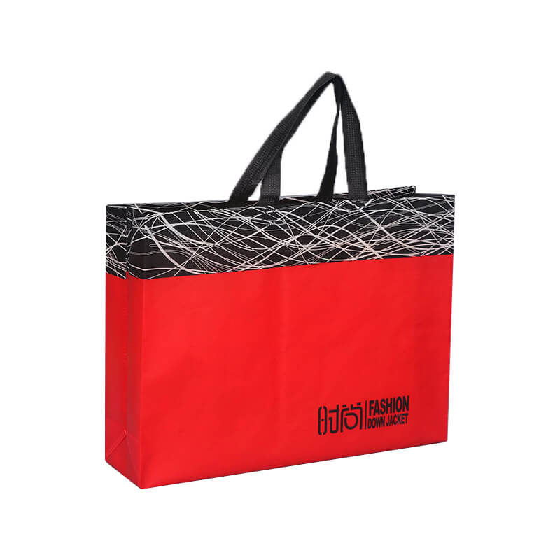 Red Color Printed Paper Bag