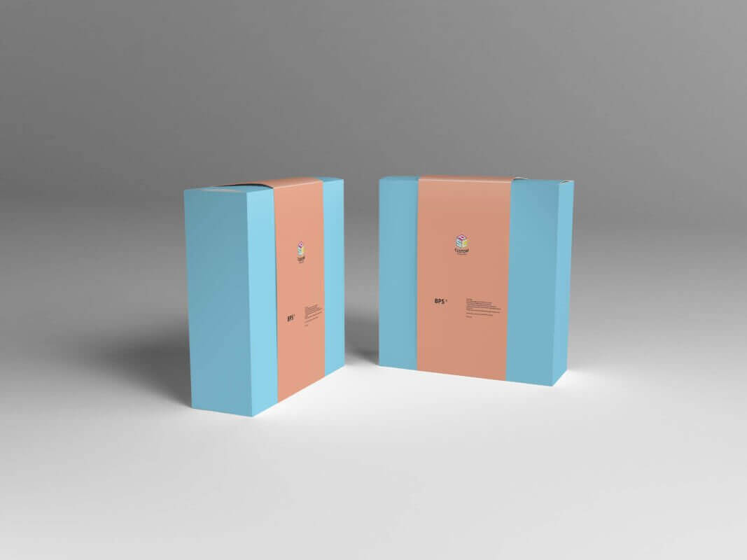 Retail sales packaging box Mock-up