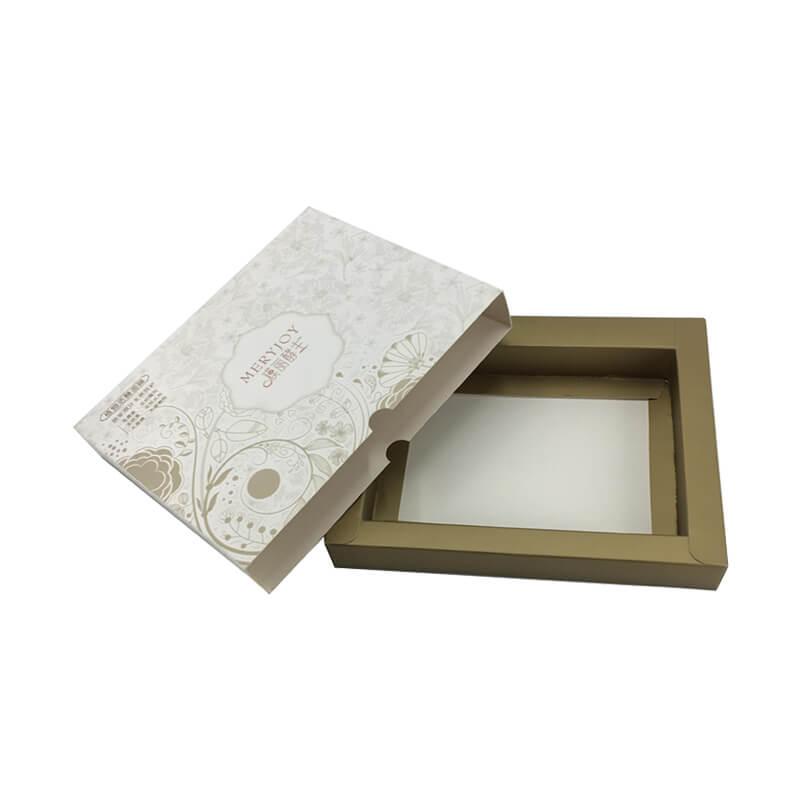 Rigid cardboard cosmetic packaging box