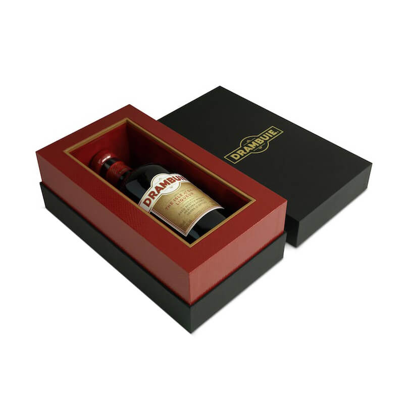 Rigid cardboard wine gift box