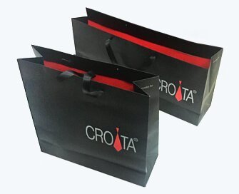 Shoes paper bag with matt lamination