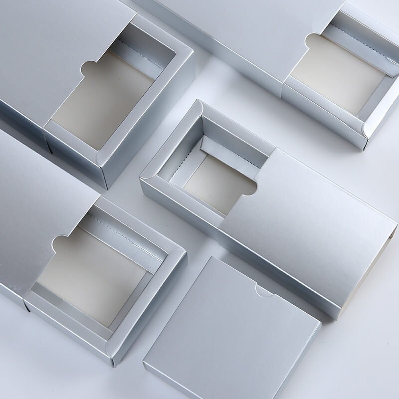 Silver Foil Paper Packaging Box