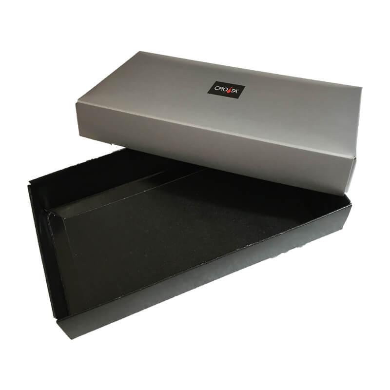 Silver Printed Telescope Shape Paper Box