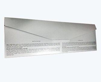 Silver metallic paper folder