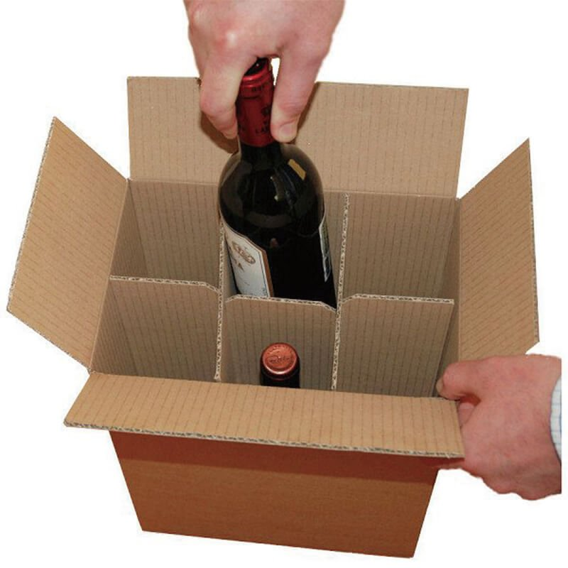 Six Pack Wine Shipping Boxes