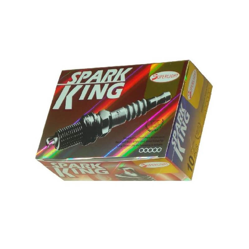 Spark plug packaging box with laser film
