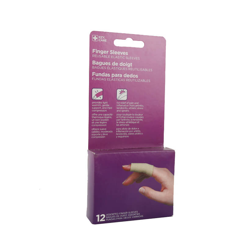 Tag Band packaging box with hang tab